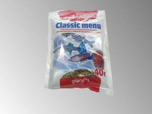 Аквариус классик меню,универсальный корм для аквариумных рыбок, гранулы( 40 г)