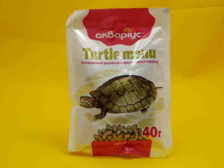 Аквариус меню для черепах