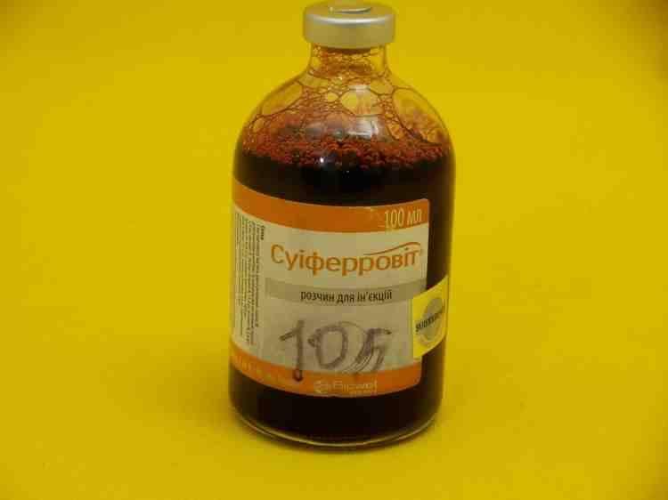 Суиферровит, препарат железа для поросят