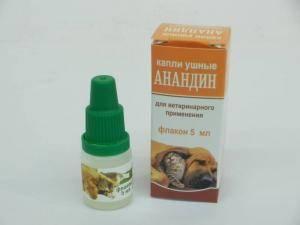 Анандин ушные капли для собак и кошек
