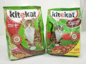 Kitekat Мясной пир, сухой корм для взрослых кошек