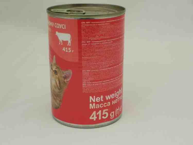 Консервы Мяу для взрослых котов в нежном соусе