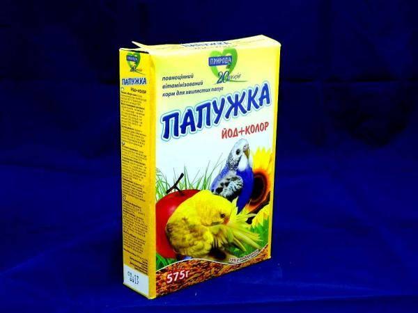 Папужка попугайчик полноценный витаминизированный корм