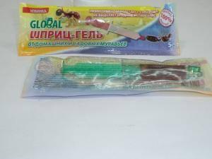 Global гель шприц -  средство защиты от домашних и садовых муравьев, 5 г