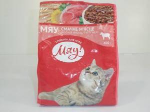 Мяу - сухой корм для взрослых котов