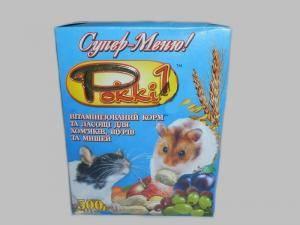 Pokki - 1,  полноценный корм для хомяков, крыс и мышей