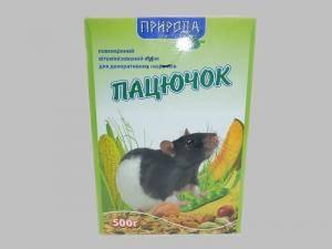 Пацючок, полноценный корм для декоративных крыс
