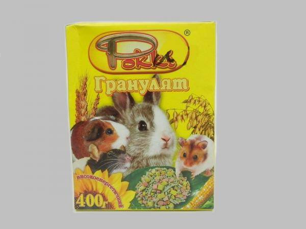 Рокки Гранулят - гранулированный корм для грызунов, 400 г