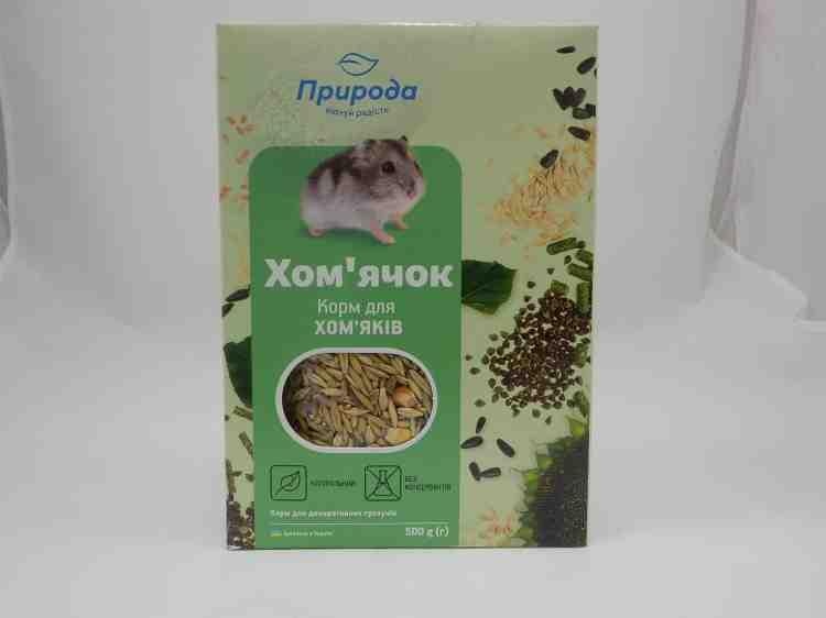 Хомячок Природа, колор+энзим, корм для хомяков