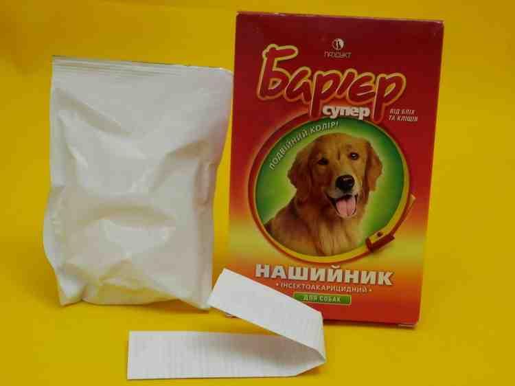 Ошейник от блох для собак Барьер супер