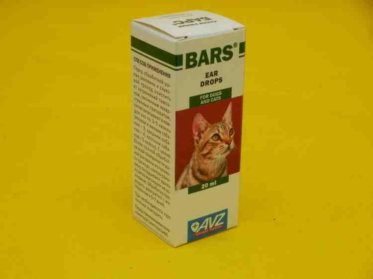 Барс  ушные капли, для кошек и собак