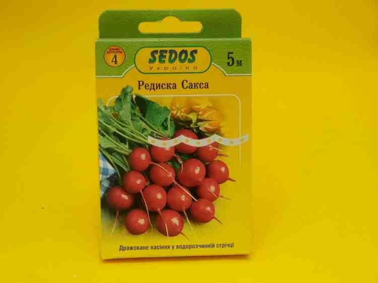 Семена редиса Сакса, дражированное на водорастворимой ленте