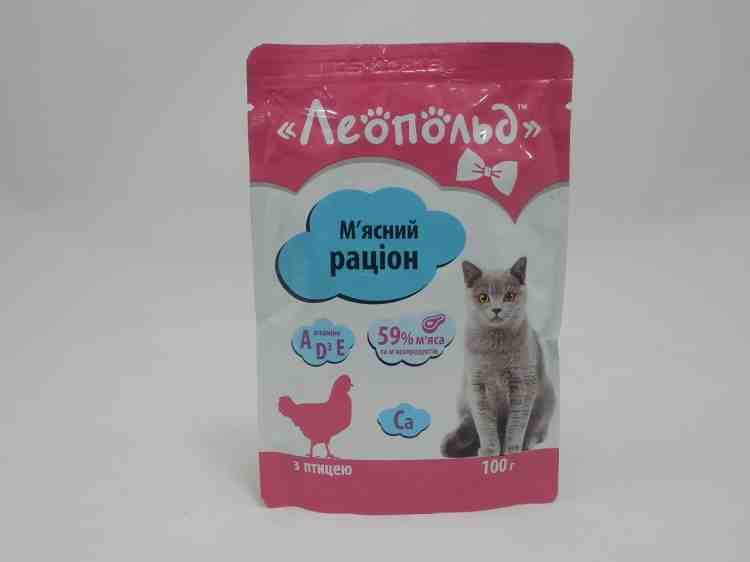 Влажный корм для кошек Леопольд, 100 г