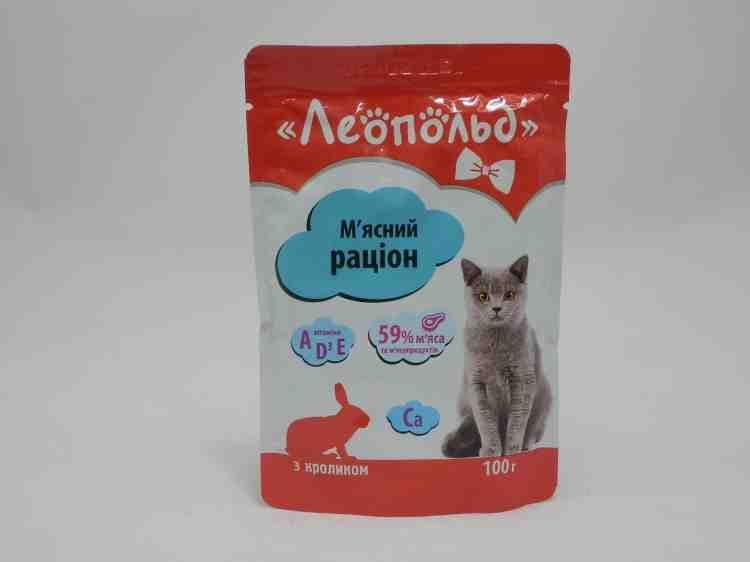 Влажный корм для кошек Леопольд