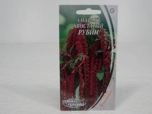 Семена амаранта хвостатого Рубин