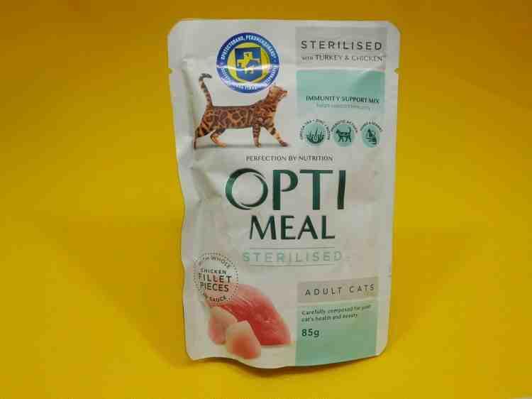 OptiМeal (Оптимил), влажный корм для кошек, пауч 85 г