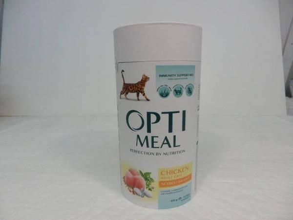 OptiMeal, сухой корм для взрослых кошек с курицей