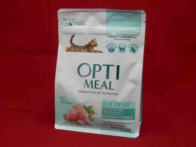 Optimeal kitten, полнорационный корм для котят с курицей