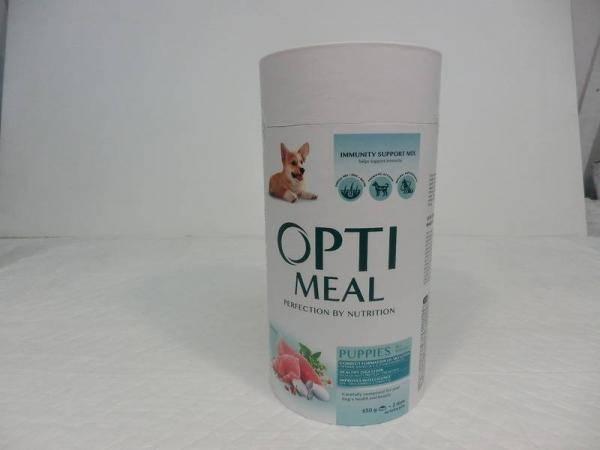 OptiMeal, полнорационный сухой корм для щенков всех пород с индейкой