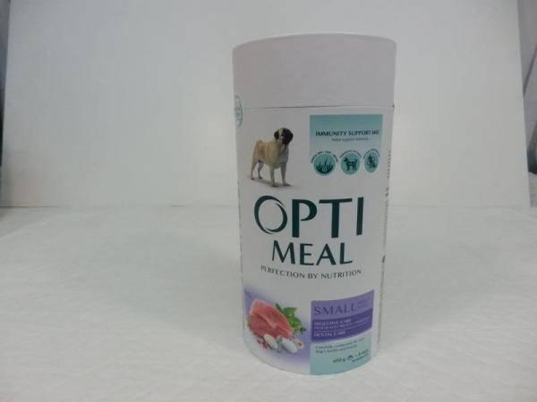 OptiMeal, сухой корм  с уткой для собак малых пород