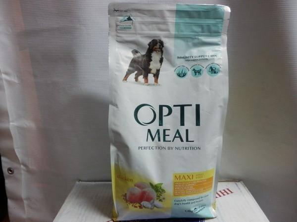 Optimeal, корм с курицей для крупных собак
