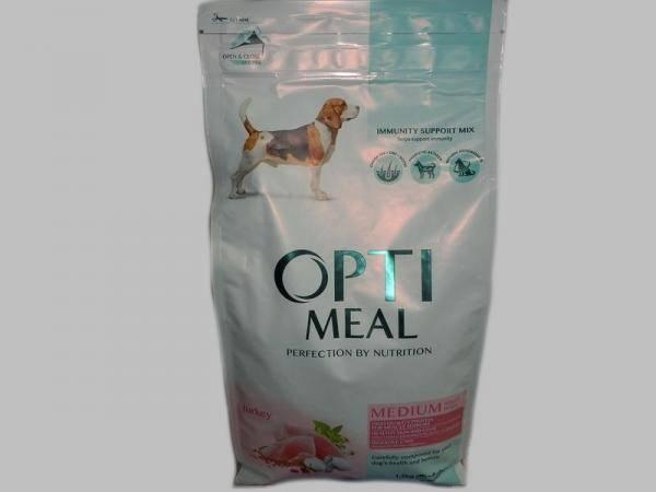 OptiMeal,корм с индейкой для средних собак