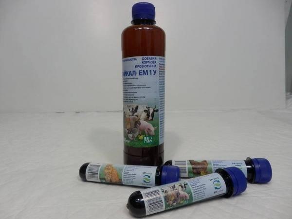 Пробиотическая пищевая добавка Байкал ЭМ 1 У для животных 500 мл