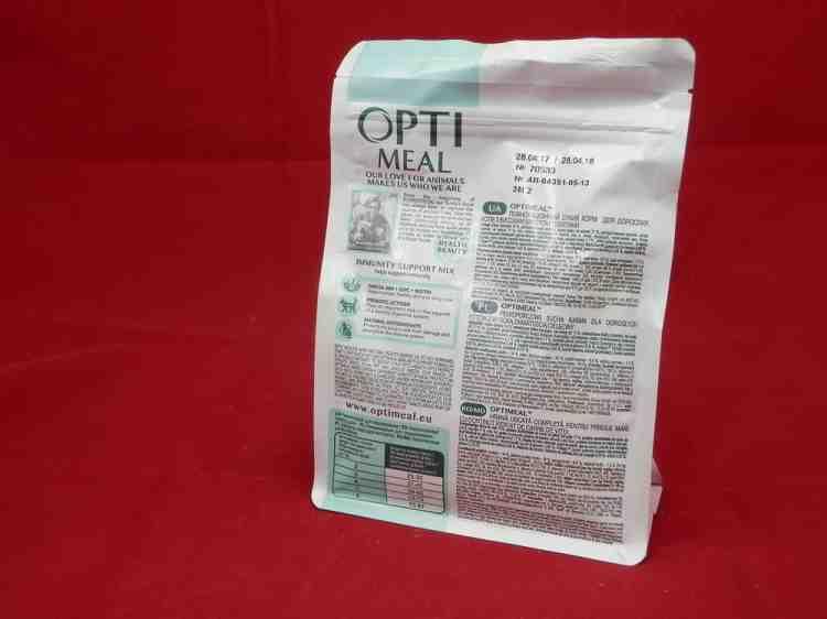 OptiMeal корм для взрослых котов с телятиной