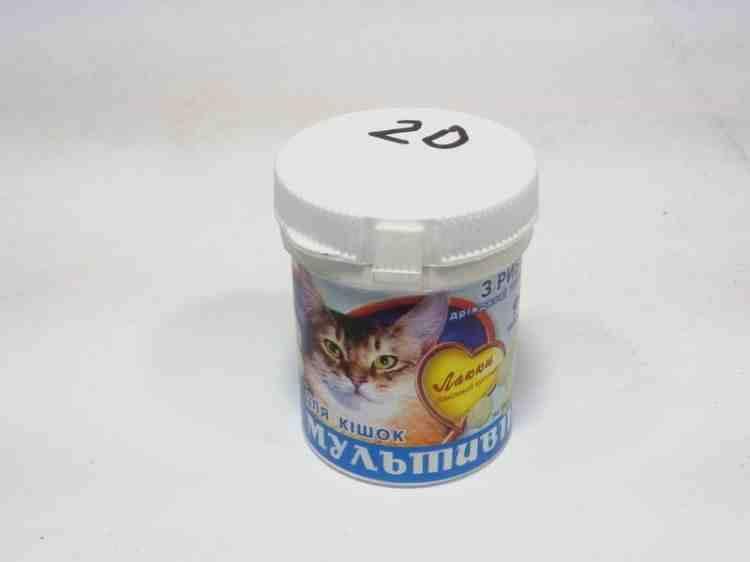Мультивит Лакки для кошек дрожжевые таблетки 90 таблеток
