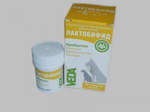 Лактобифид, 1 флакон - 20 таблеток по 0,2 г (ветеринарный препарат)