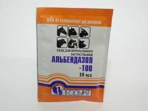 Aльбендазол - 100, гель для перорального применения, антигельминтик, 1 пакет - 10 мл
