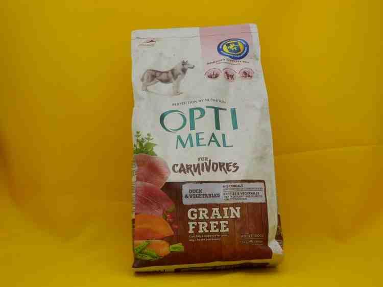 ОптиМил Optimeal беззерновой сухой корм для взрослых собак всех пород утка с овощами