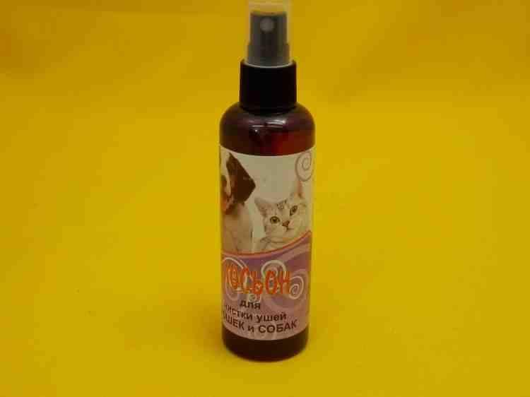 Лосьон для чистки ушей кошек и соба