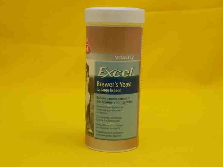 8 in 1 Эксель пивные дрожжи Excel Brewers Yeast for large breeds