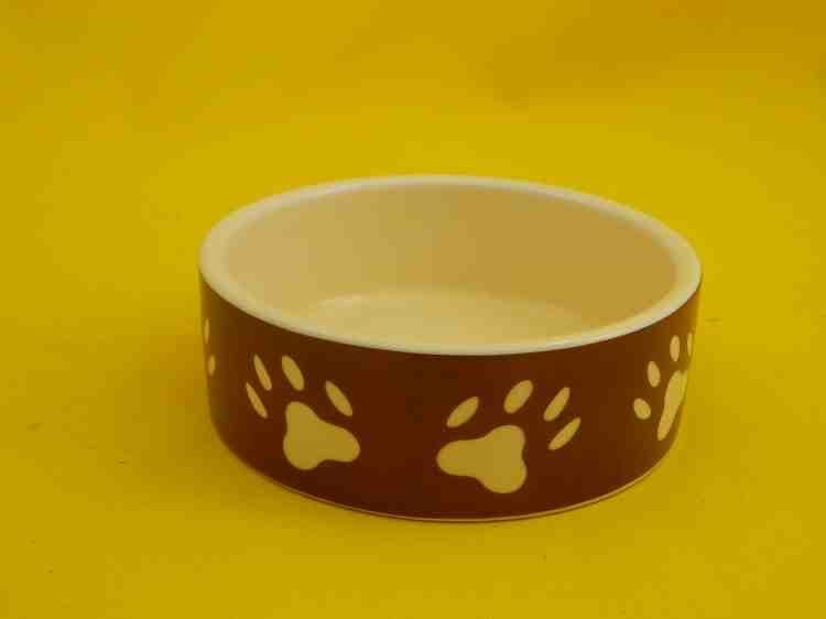 Миска для корма керамическая