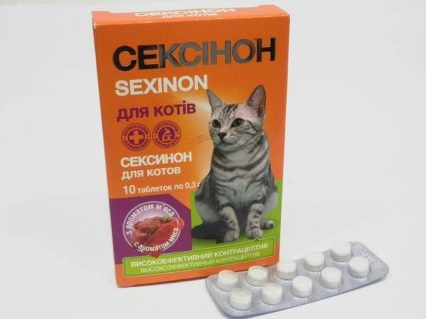 Сексинон, контрацептив для котов с ароматом мяса