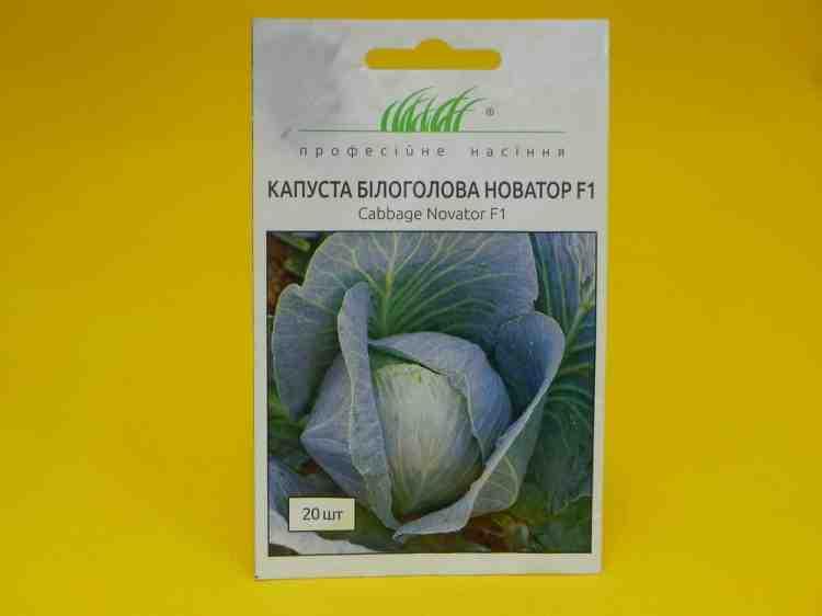 Семена капусты белокочанной средней Новатор F1