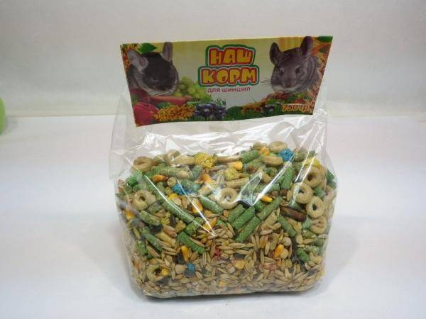 витаминизированный корм для шиншилл