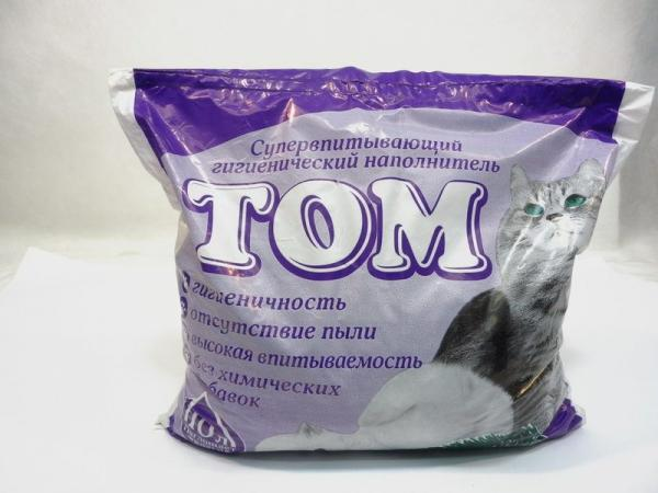 Том - супервпитывающий гигиенический наполнитель