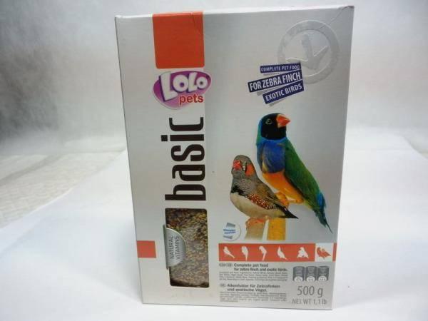 Корм для амадин и экзотических птиц Лоло Петс Lolo Pets