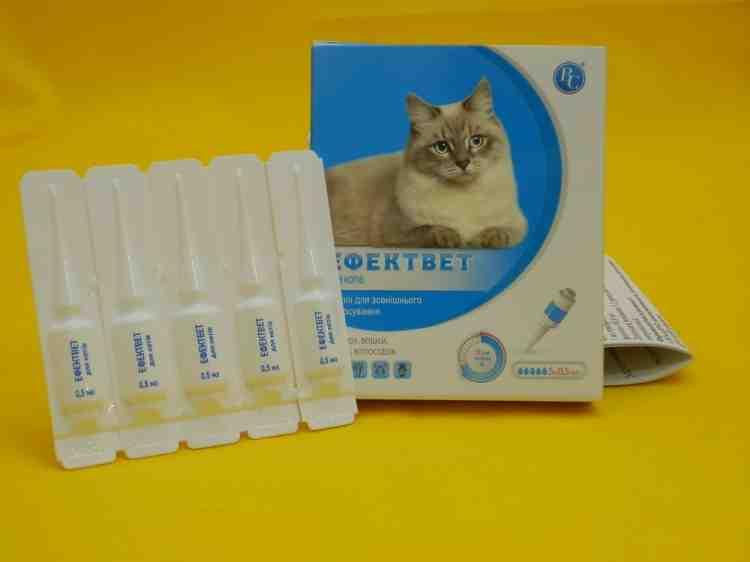 Эффектвет для котов капли для наружного применения