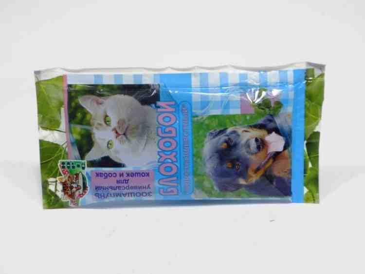 Разовый шампунь для собак и кошек от блох Блохобой 25 мл