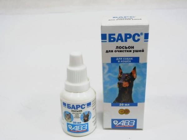 Барс, лосьон для очистки ушей для собак и кошек