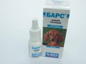 Барс - капли глазные для кошек, собак и кроликов