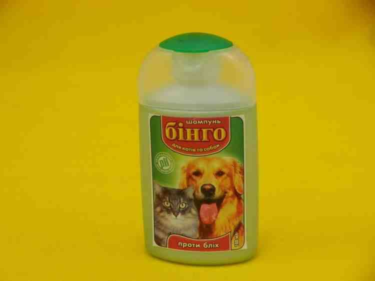 Шампунь против блох для собак и котов Бинго