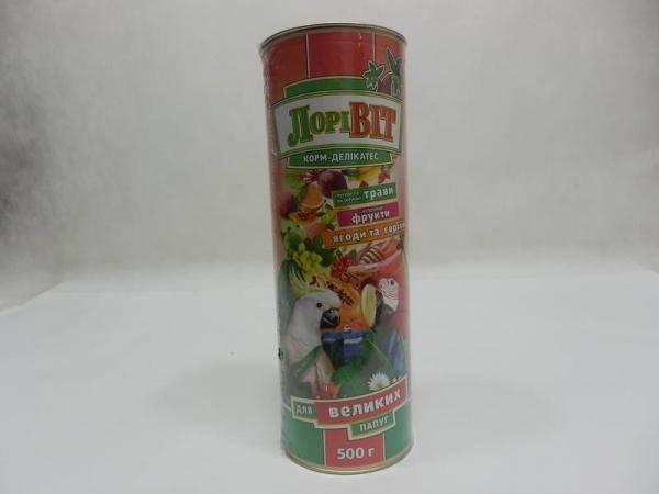 ЛориВит, корм-деликатес для крупных попугаев