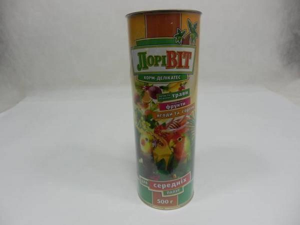ЛориВит, корм-деликатес для средних попугаев