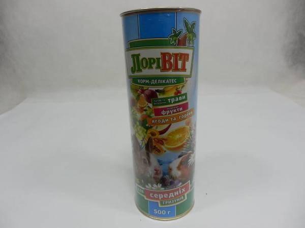 ЛориВит, корм-деликатес для средних грызунов