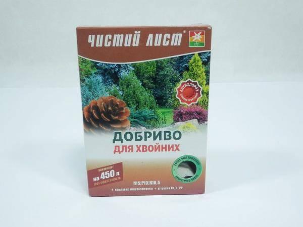 Чистый Лист, удобрение для хвойников - 300г на 450 л