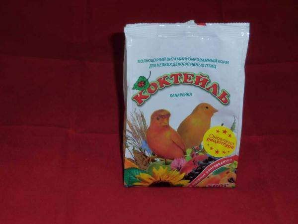 Коктейль Канарейка, корм для мелких декоративных птиц - 500 г